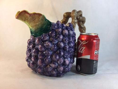 jarra vintage en forma uvas de 1988 pintada a mano 9
