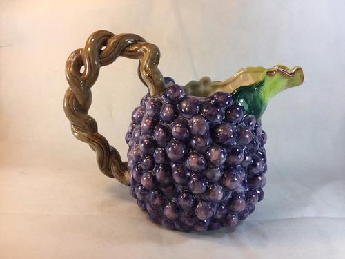 jarra vintage en forma uvas de 1988 pintada a mano