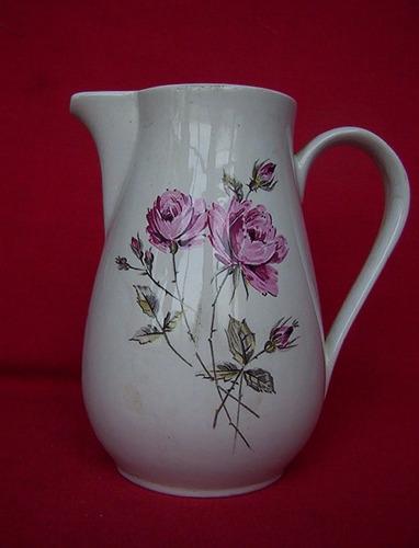 jarra vintage fanaloza penco coleccion hermoso diseño floral