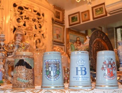 jarras antiguas de porcelana alemana. c/u