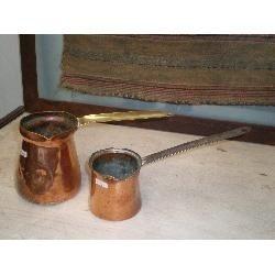 jarrita antigua c. mango  cobre para café turco decoracion