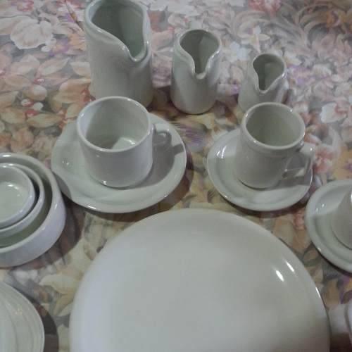 jarrito k con plato porcelana gastronomia x 19