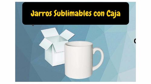 jarro 11oz blanco sublimable con caja blanca incluida