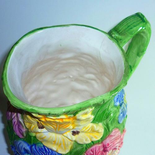 jarro de porcelana 1,5 lt. japon probable c/detalle interior