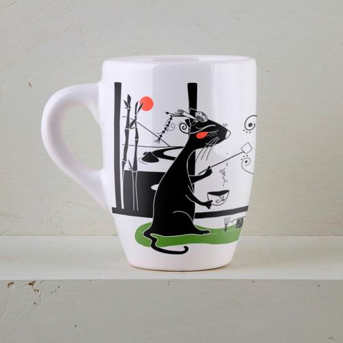 jarro taza desayuno de diseño cerámica decorada | ka