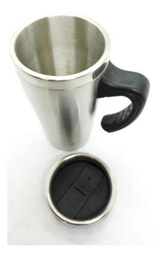 jarro térmico acero inoxidable interior mug con asa y tapa