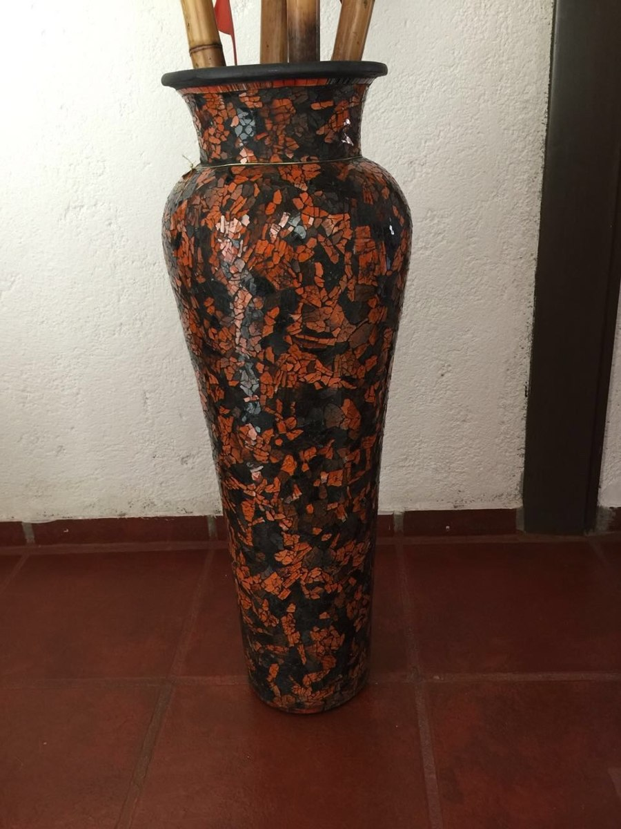 jarrn alto decorado con venecitas