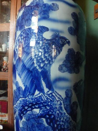 jarron ceramica mansion gigante 1,80mts aguilas imperiales