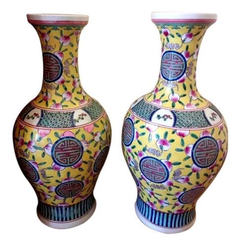 jarron chino decorativo de colección  / grupo cathay