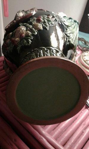 jarrón de mayolica antiguo.