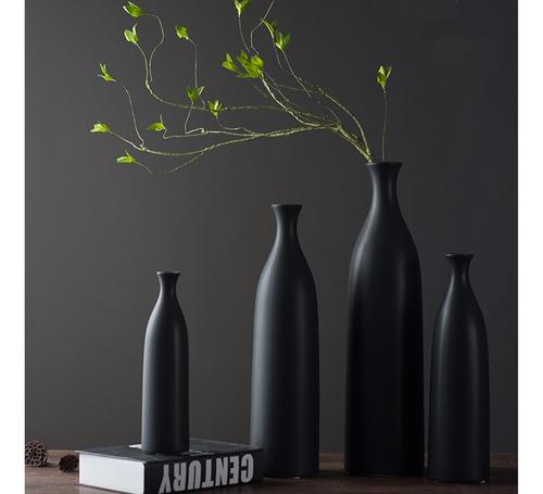 jarrón de porcelana de flor de planta de estilo nórdico