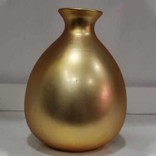 jarrón dorado 14x10 cm