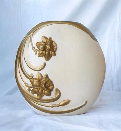 jarrón florero cerámica grande 26 cm de alto boca 12cm