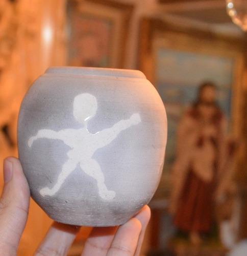 jarrón japonés  en cerámica raku único en su estilo.
