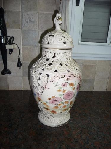 jarrón porcelana antiguedad. exquisito!!