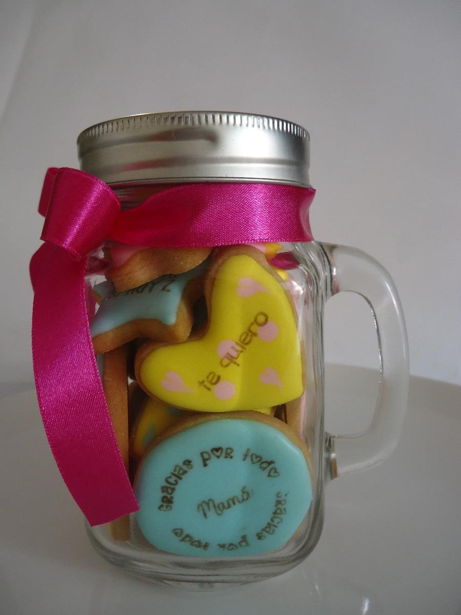 Jarron tarro c galletas decoradas regalo dia de las for Decoracion para pared dia de la madre