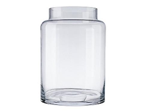jarrón vidrio transparente