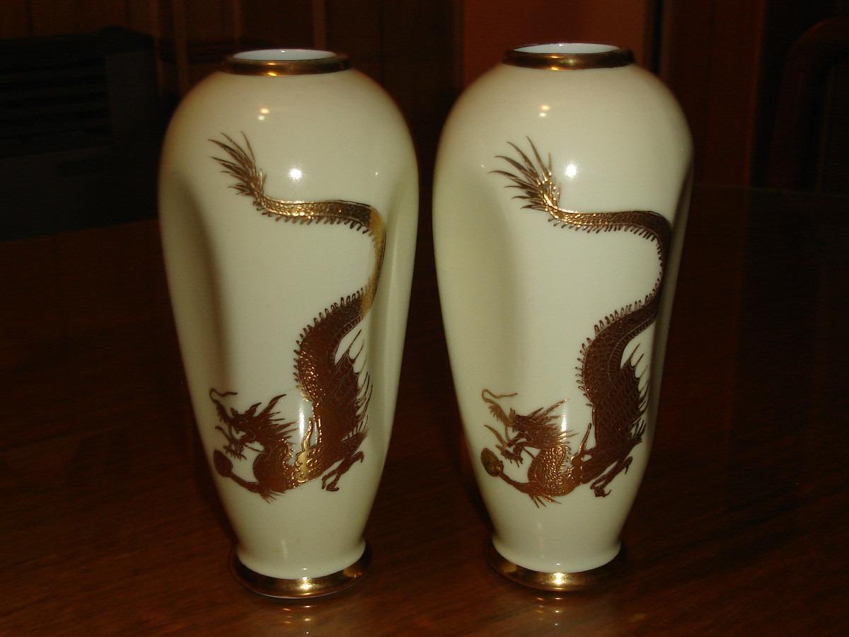 jarrones floreros porcelana tsuji antiguos adorno decoracin