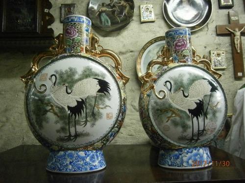 jarrones porcelana china redondos precio x c/u,