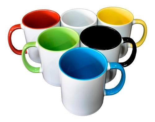 jarros tazas asas de colores sublimados personalizados