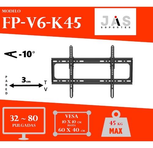 jas-soportes fijo inclinable tv 32 40 50 65 70 80 pulgadas