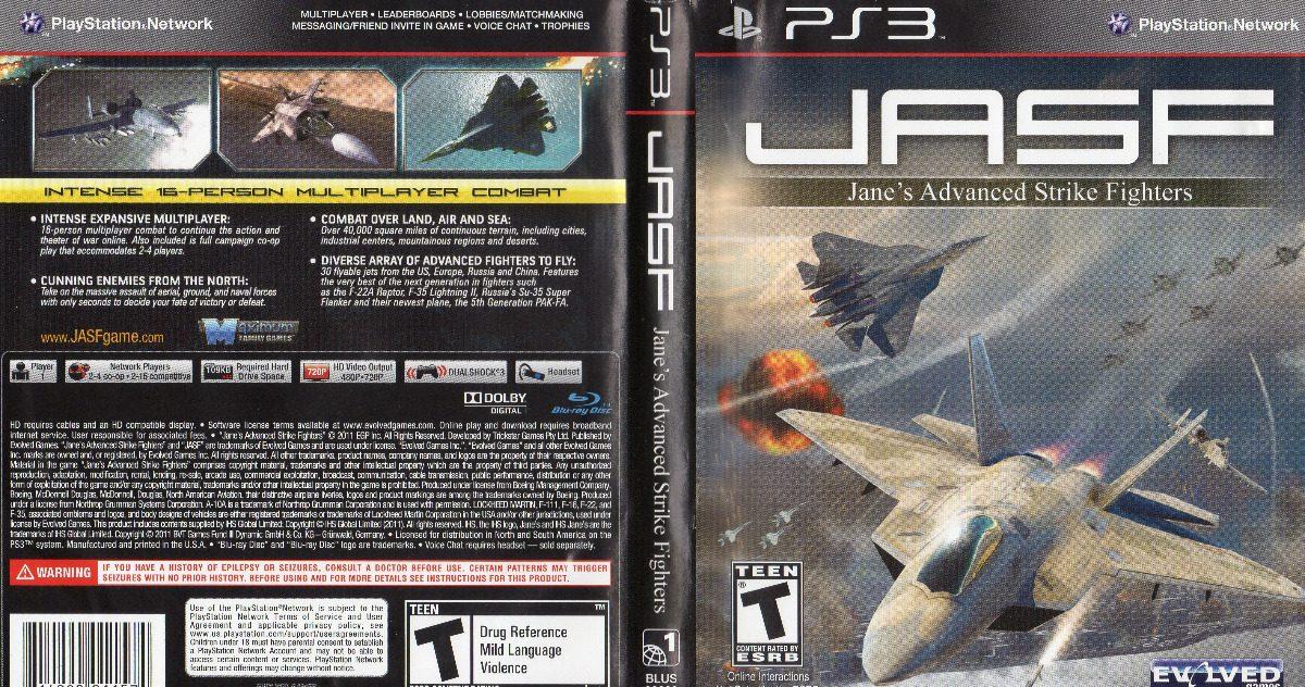 Jasf Jane's Advanced Strike Fighters Ps3 Fisico - $ 770,00