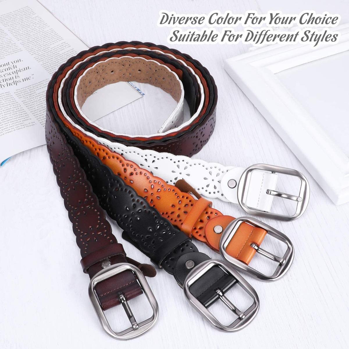 Jasgood Cinturon De Piel Para Pantalones Vaqueros Para Muj 143 980 En Mercado Libre