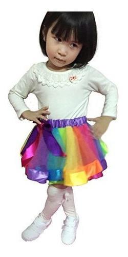 jastore girls layered rainbow tutu falda vestido de baile