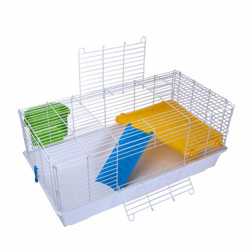 jaula 102 cms 2 niveles full equipo conejo chinchill pethome