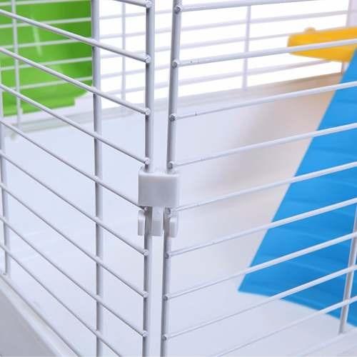 jaula 102 cms conejos  cuy 2 niveles + tranportador  pethome