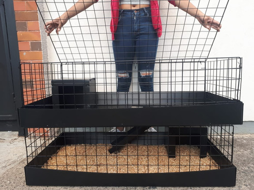 jaula 2 pisos cuyo o erizo 1 metro de frente x 60cm altura