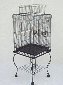 jaula con soporte extraíble  mcage para loro periquito 20 in