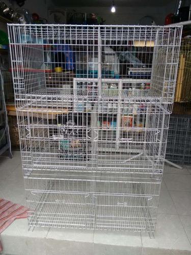 jaula conejo  doble