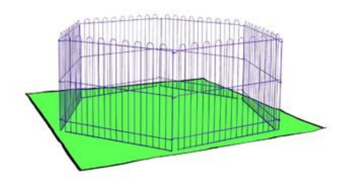 jaula corral erizos cobayos rata 6 paneles diversion kaytee