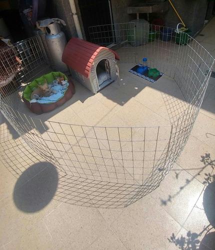 jaula corral para perro 1mt de alto 8 paneles reforzados