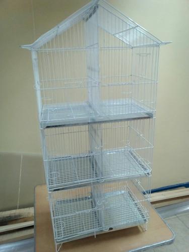 jaula criadora modelo casa de 6 divisiones.
