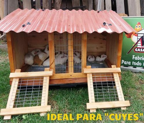 jaula de conejo-cuy (xl) 2 divisiones 1mx50cmx50cm