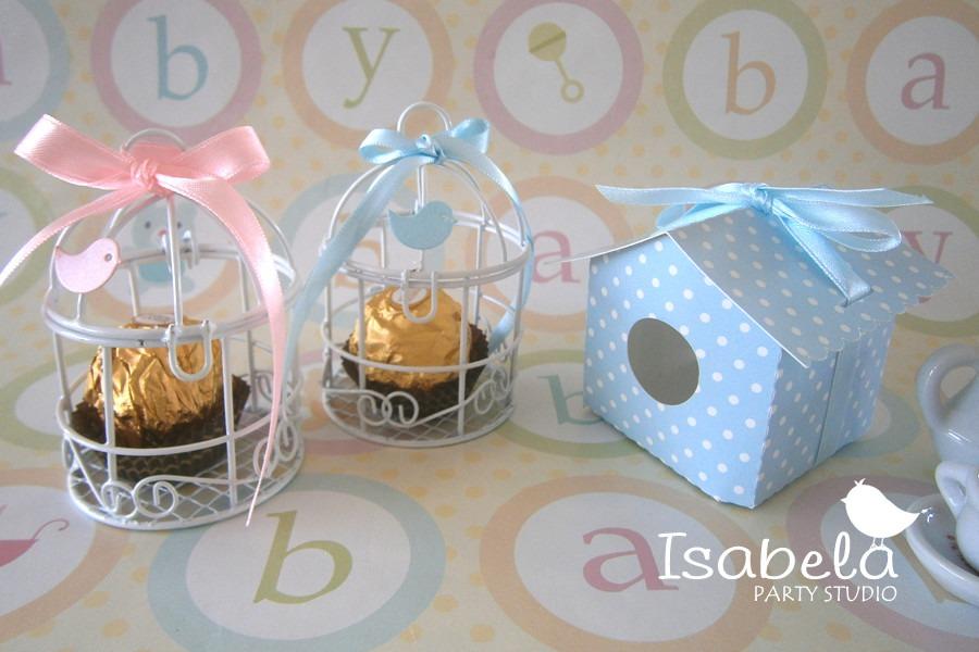 Jaula decorativa mesa de dulces para bodas bautizos baby - Como hacer centros de mesa con dulces para bautizo ...