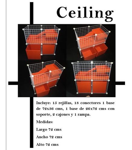 jaula desarmable happy house ceiling para cuyo
