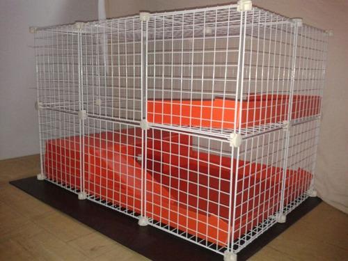 jaula desarmable p/ cuyo huron conejo modelo c4