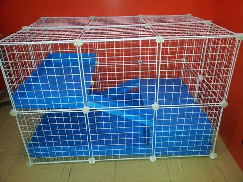 jaula desarmable p/ cuyo huron erizo conejo modelo c4 lqe