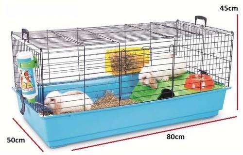 jaula habitat savic nero 2 deluxe 80x50x45 conejo cobayas