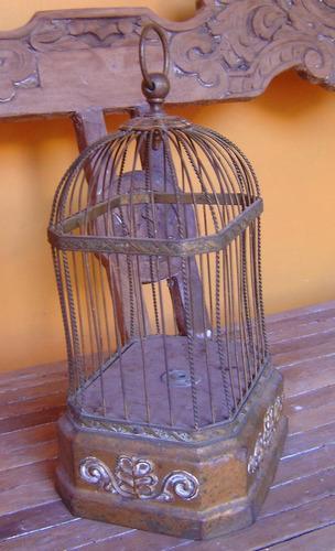 jaula musical antigua de coleccion.