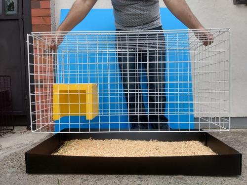 jaula nueva para conejos 1 metro de frente