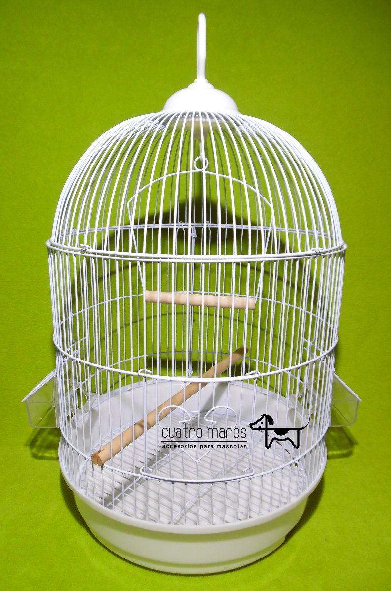 Jaula para aves modelo oval pajaros canarios catas for Jaulas para cria de peces