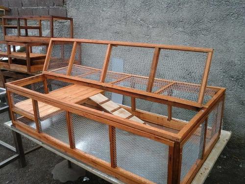 jaula para cobayos erizos conejos corral recinto refugio