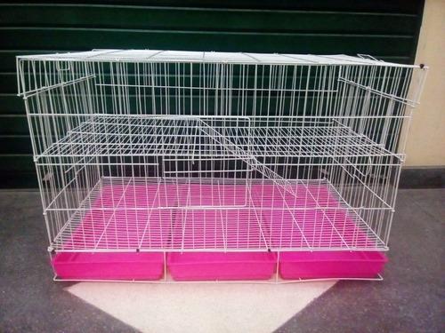 jaula para conejo grande 1 metro + alfalfa king o sustrato