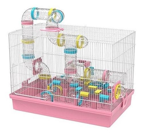 jaula para hamster gnb pet con tunel tamaño: 9*9*10