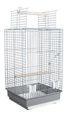 jaula para loros grande abierta 52x41cm da830a g p