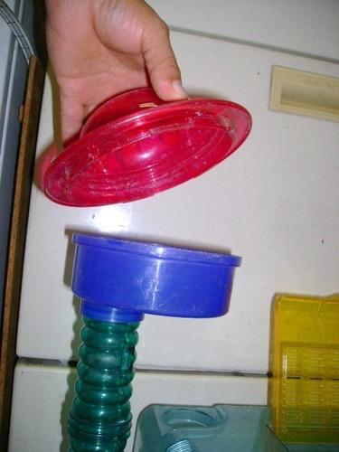 jaula para roedores de plástico con dormitorio